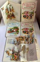 The Wind in the Willows 4 Vol Box Set Pop-Up Books Treasury Collection 1988