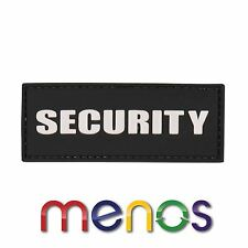 Security PVC Patch Black - Security Badge hook and loop fasteners