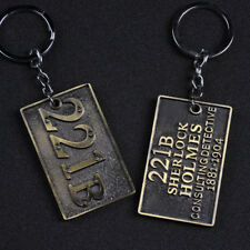 Sherlock Holmes Metal Keychain Bag Pendant Unisex Movie Collectible Key Rings