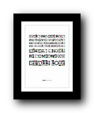 More details for blur girls and boys #2  ❤  song lyrics typography poster art print