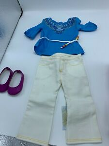 AMERICAN GIRL of the Year 2013 Saige Tunic Outfit~Clothes~Complete New in AG Box
