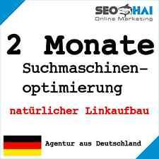 2 Monate Suchmaschinenoptimierung manuell Linkaufbau Backlinks Website SEO