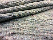COPERTA di grandi dimensioni Trama Seta Aqua Taupe Lino I17 tessuto per tende cucito artigianato
