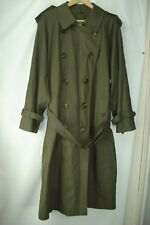 'BURBERRYS' OF LONDON OLIVE GREEN MEN'S LONG TRENCH COAT, SIZE 40R