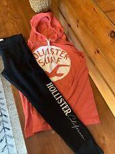 Womens Juniors Hollister Hoodie Jogger Sweat Pants Fall Winter Lot Pink Black S