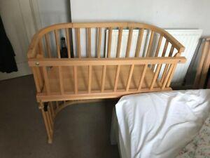 BARGAIN! BabyBay co-sleeper cot/crib with side panel 80x42cm, Please read below.