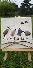 Bild aus Kieselstein- Pebble Art Motiv Vögel