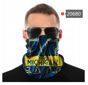 Michigan Wolverines Face Mask - Bandana, Neck Gaiter, Washable, Several Styles