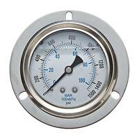 """Karcher 8.710-256.0 1000 PSI 2-1/2"""" Back Mount Pressure Gauge (202L-254M)"""