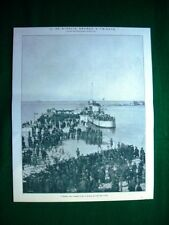WW1 Guerra Mondiale 1918 Trieste, l'Audace, molo San Carlo + torpediniera 68 P.N