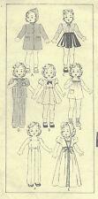 "453 Vintage Slender Doll Pattern - Size 14"" -  Year 1934"
