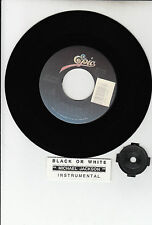 "MICHAEL JACKSON Black Or White 7"" 45 rpm vinyl record BARGAIN + juke box strip"