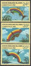 COCOS IS 1984 CHRISTMAS 3v MNH