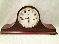 Howard Miller Cherry Shelf Clock, Model 613-439, Runs Chimes and Strikes