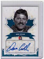 DAVE CUTLER 10/11 ITG Canadiana Auto Autograph BLUE SP /50 Edmonton Eskimos CFL