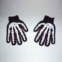 New GOTHIC Mens Misfit White Skeleton Bones Black Work Gloves Goth Horror PUNK