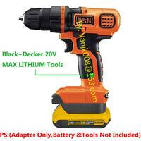 Black+Decker 20V MAX Li-Ion System Tools Adapter Work with Dewalt 20V XR Battery