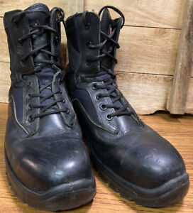 YDS Goliath Black Steel Toe Cap Work/ Safety Lace Up Boots Size 8M UK USED