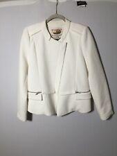 Trelise Cooper Womens White Baby Back Ribs Jacket Size 12 Long Sleeve