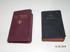 Vintage Book: 2 Small New Testaments 1 Black; 1 Red Psalms & Proverbs 1954