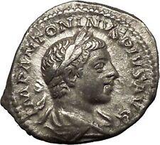 Elagabalus Bisexual Emperor 220AD Silver Ancient Roman Coin Victory i53212