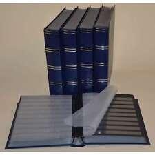 Briefmarkenalbum, Einsteckbuch, Einsteckalbum, 60 schw. Seiten, blau, 5er-Karton