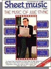 Sheet Music Magazine (Organ) - 1989, January - The Music of Jule Styne, People