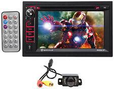 "Rockville RVD6.2 6.2"" 2-Din Car DVD/CD/Radio/Player/Stereo Bluetooth/USB+Camera"