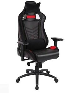 EverRacer Gaming & Office Carbon Fibre & Breathable Mesh Chair - Red and Black