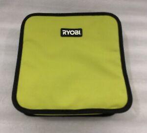 "RYOBI HEAVY DUTY SMALL CANVAS TOOL BAG / 10"" X 10"" X 2"" / ZIPPER CLOSURE"