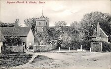 Roydon near Harlow. Church & Stocks # 2433 by Charles Martin.