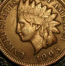 OLD US COINS 1905 INDIAN HEAD CENT PENNY HIGHGRADE BEAUTY