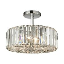 ELK Lighting Clearview 3-Light Semi Flush, Chrome/Crystal Prisms - 46185-3