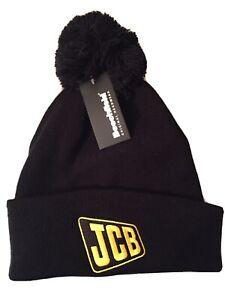 JCB Beechfield Bobble Wooley Beanie