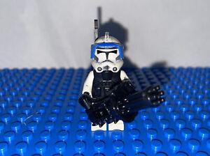 Lego Star Wars CUSTOM Arc Clone Trooper Captain/Commander Rare! Custom Mini Gun