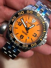 "DeTomaso San Marino Diving Watch Automatic ORANGE LUME ""DEEP BLUE MASTER FANS"""