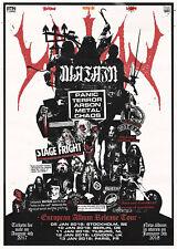 "WATAIN ""EUROPEAN ALBUM RELEASE TOUR"" 2018 CONCERT POSTER - Swedish Black Metal"