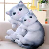 Cute Simulation Cat Plush Toy Doll Cushion Pillow Birthday Stuffed Animal Stuff