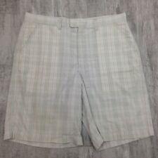 Men's PATAGONIA Gray Plaid Seersucker Casual Flat Front Bermuda Shorts Sz 35 L10