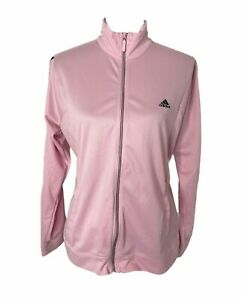 Women's size large adidas pink and black full zip track jacket