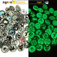 12pcsx4 Exotic Pattern 4 Themes 18mm Glass Ginger Snap Button for Snaps Jewelry