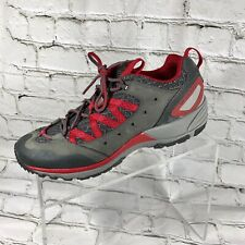 Merrel Women  Red And Gray Leather Athletic / Hiking Shoes 8