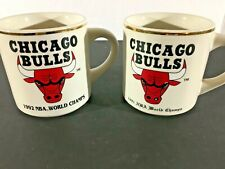 Pair Of Chicago Bulls World Champion Mugs 1991 & 1992 Vintage Michael Jordan