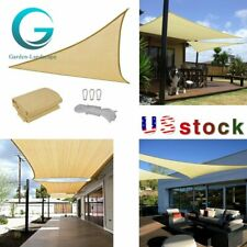 Rectangle Triangle Sun Shade Sail Patio Pool Top Cover Canopy Outdoor Awnings Us