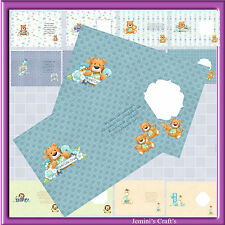 A5  LUXURY BABY BOY INSERTS FOR CARDS  X PACK OF 12  WITH VERSE 12 BLANK