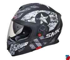 SMK Helmets - Twister - Captain Matt Black Grey-Full Face Dual Visor Bike Helmet