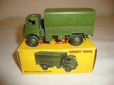 DINKY 623 BEDFORD ARMY COVERED WAGON (1ST VERSION) - EXCELLENT in original BOX