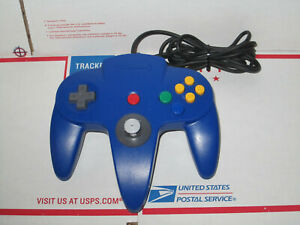 Official Nintendo 64 N64 Blue Tight Controller Authentic TESTED Games Nice