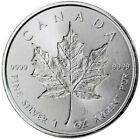 2018 1 Oz Silver $5 Canada MAPLE LEAF INCUSE Coin.