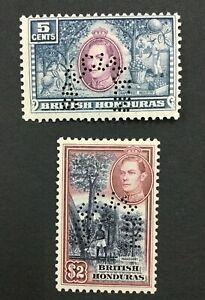 MOMEN: HONDURAS SG #154s,160s SPECIMEN MINT OG H LOT #191541-304